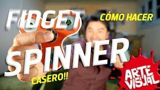 COMO HACER UN SPINNER CASERO - DIY FIDGET SPINNER #Spinner ARTE VISUAL