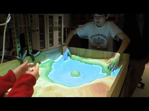 Augmented Reality Sandbox - realtime topographic contour line generation