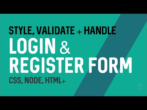How to Style, Validate and Server Handle Login and Register/Signup Forms with CSS, Node and HTML+