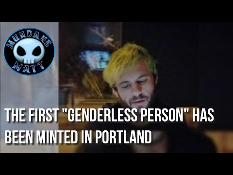 """[News] The first """"genderless person"""" has been minted in Portland"""
