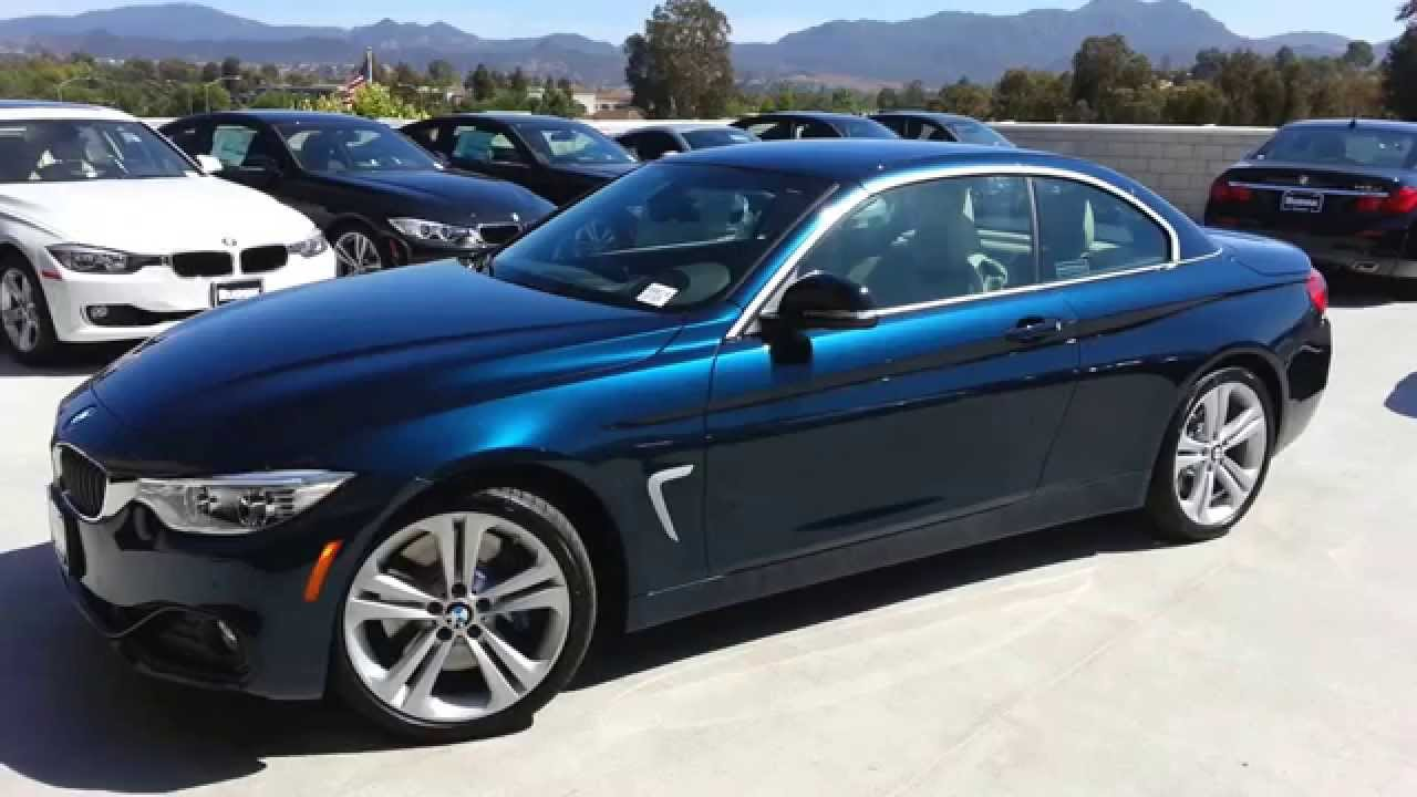 NEW BMW 435I convertible Midnight Blue Sport line Car Review - YouTube