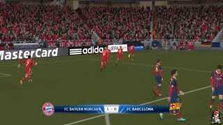 GamePlay PES 2014 | Bayern Munich VS FC Barcelona 2-0 | Latino | Completo HD