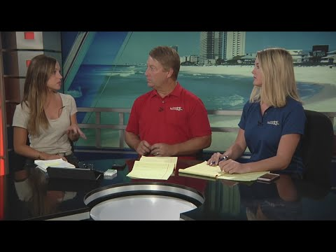 WMBB Live in Panama City - Getting cash during power outages in Panama City Beach, October 15, 2018