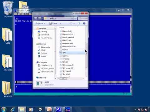 QB64 Tutorial - QBasic For Windows 8 Windows 7 Vista Linux ...
