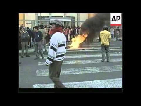 ECUADOR: QUITO: CLASHES