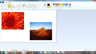 How to combine two images in paint | How to merge two pictures or images in paint (Save Your Time)