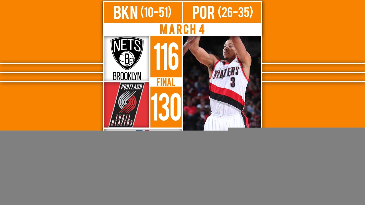 Trail Blazers Roll Past Nets - HIGHLIGHTS: Al-Farouq Aminu scores 23 points, includ