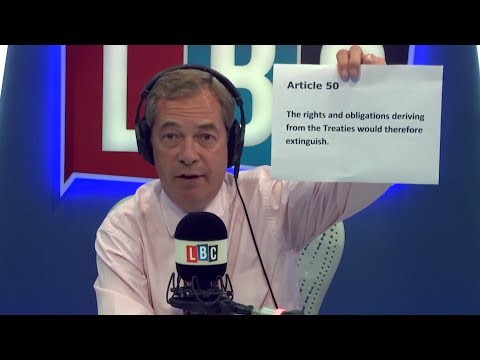 The Nigel Farage Show: Should the UK pay a Brexit bill at all? Live LBC - 20th July 2017