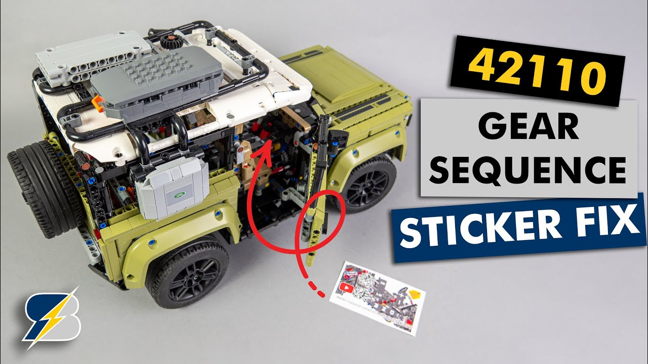 Gearbox Sticker Fix For The Lego Technic 42110 Land Rover Defender Youtube