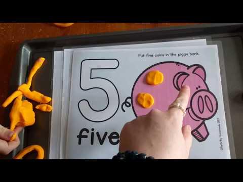 Alphabet & Number Playdough Mats