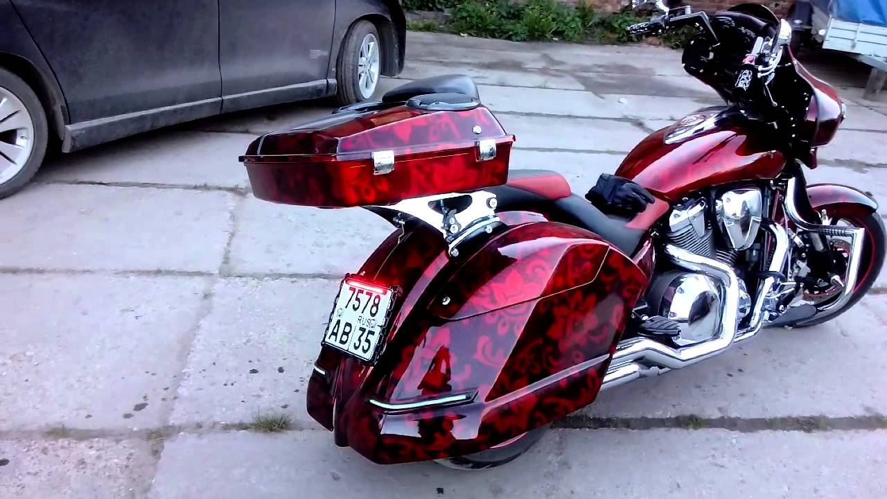 vtx 1800 bagger   youtube