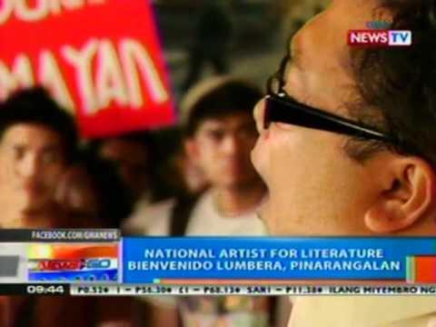 NTG: National Artist for Literature Bienvenido Lumbera, pinarangalan (041612)