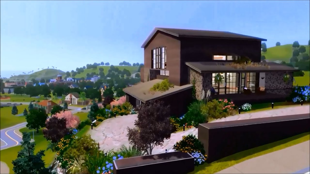 Beach House Designs The Sims 3 Modern Cliff House Youtube