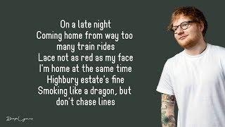 Ed Sheeran - Homeless (Lyrics) 🎵