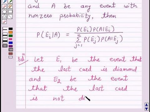 Example:Finding Probability using Bayes Theorem - YouTube