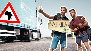 Can we travel to AFRICA for 0$?! | Getting picked up by a  hearse!