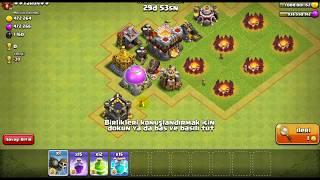 Clash of clans hileli (1 duvar yıkıcı 15 öfke 15 klon büyüsü )