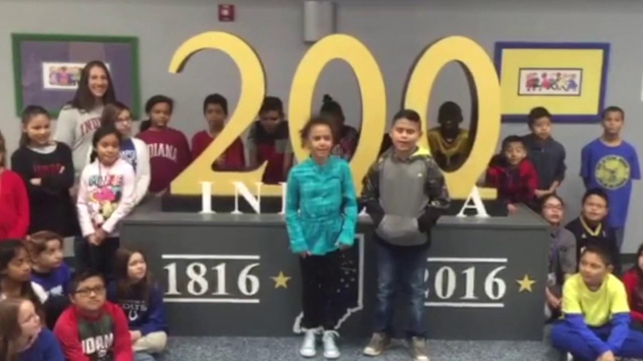 Captivating Garden City Elementary   Happy Birthday Indiana
