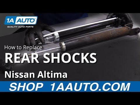 How to Replace Rear Shocks 07-17 Nissan Altima