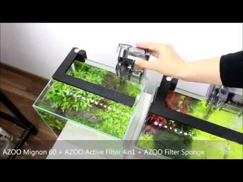 Azoo Mignon 60 i 150 - Filtry kaskadowe do akwarium