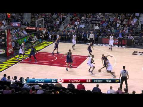 Jeff Teague nails 5 threes vs. Mavs