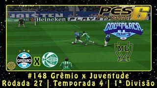 Pro Evolution Soccer 6 (PC) Liga Master #148 Grêmio x Juventude | Rodada 27 | Temp.4 | 1ª Div.