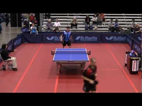Men's Singles Rd 32: Adam Hugh vs. Chance Friend - 2011 US Table Tennis Championships