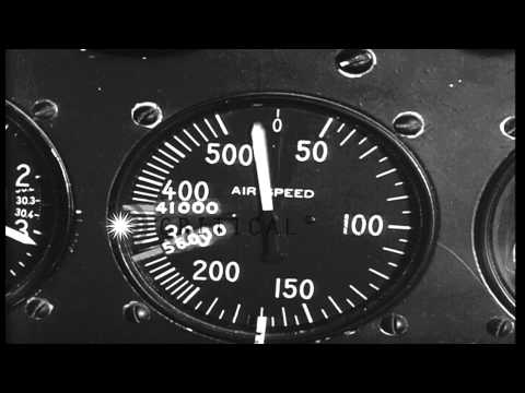 Air speed meter of United States BT-13 aircraft indicating variations in speed HD Stock Footage