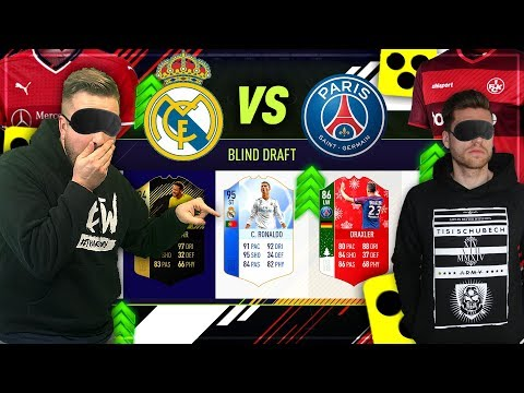 FIFA 18:BLIND DRAFT BATTLE mit DEMÜTIGENDER BESTRAFUNG 😰😳 Champions League Real vs PSG Special 💥