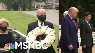Biden Follows Guidance On Masks; Trump Wears No Mask | Morning Joe | MSNBC