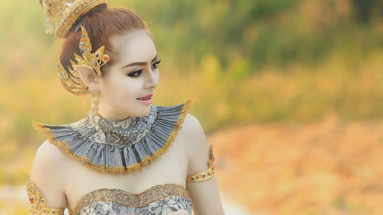 Beautiful Pictures Of Thai Women In Traditional With Flute Music