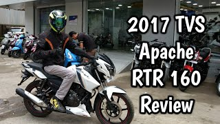2017 TVS Apache RTR 160 BS4 Full Review | Hyper Edge Edition | Ride Impressions | Exhaust Note