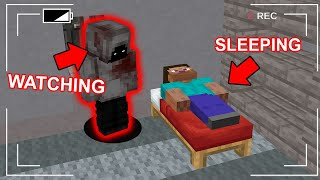 We Caught A Stalker Living In His Minecraft Base... Scary Minecraft Video