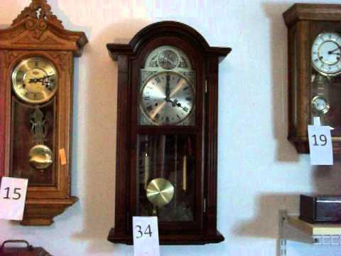 Waltham 31 Day Cabinet Wall Clock Tempus Fugit - YouTube