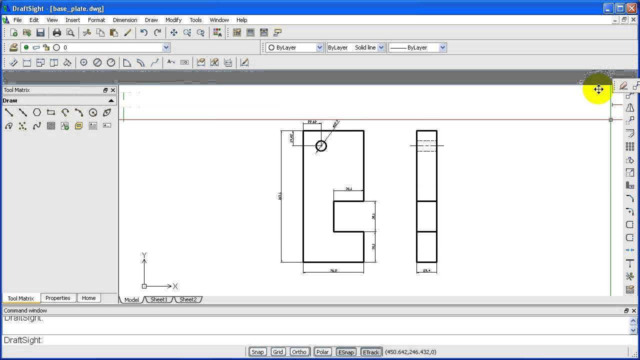 Drawing basic shapes in Draftsight | 12CAD com