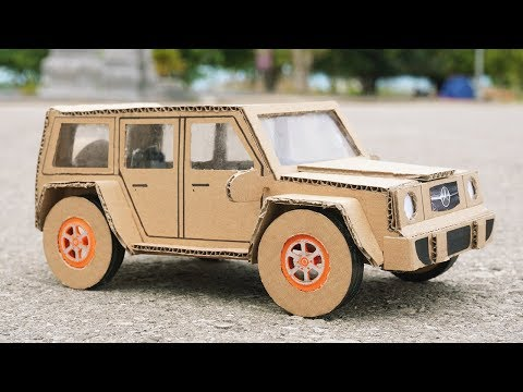 How to Make a Car from Cardboard - DIY Mercedes Car
