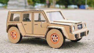 How to Make a Car from Cardboard - DIY Mercedes Car