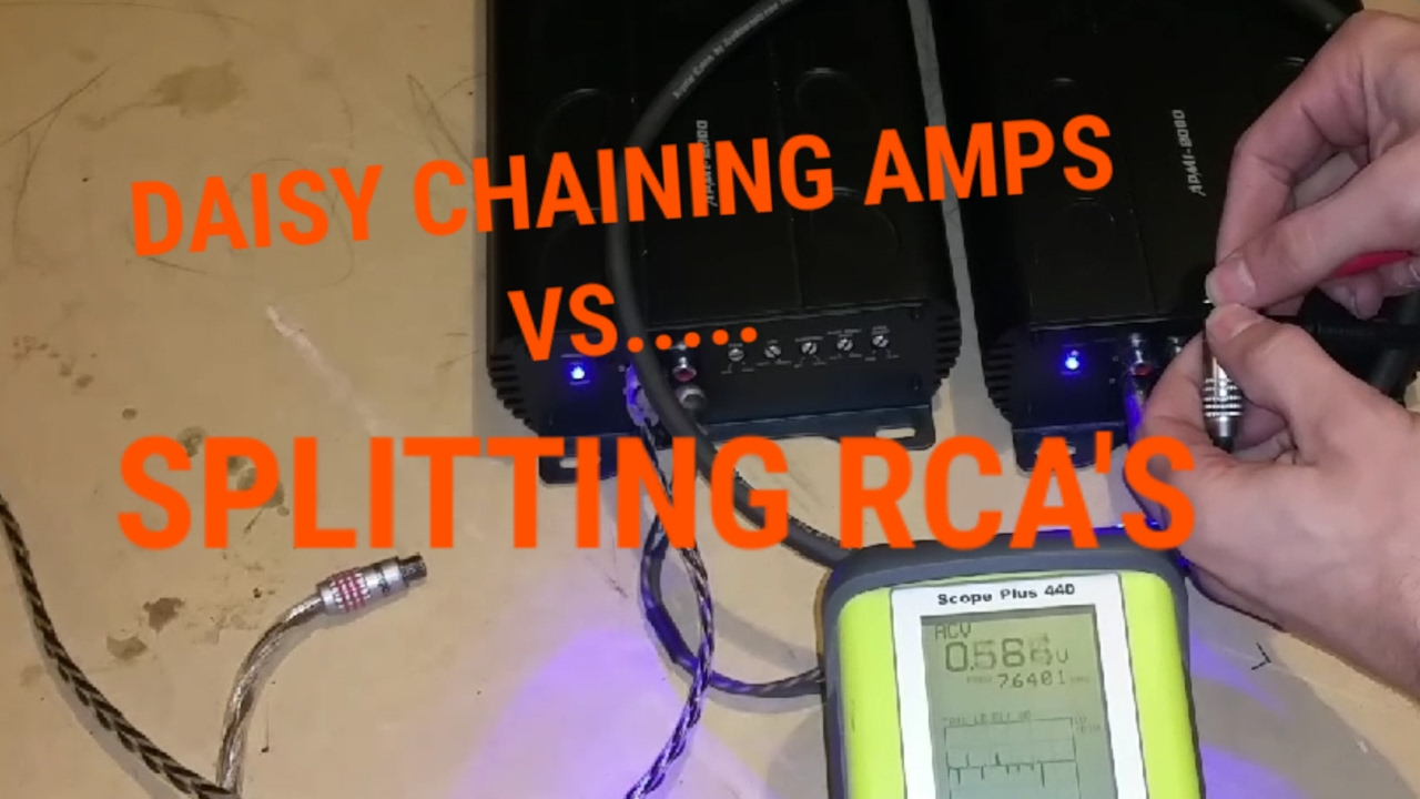 How To Daisy Chain Amps Vs Splitting Rca S To Run Multiple Amplifiers Youtube