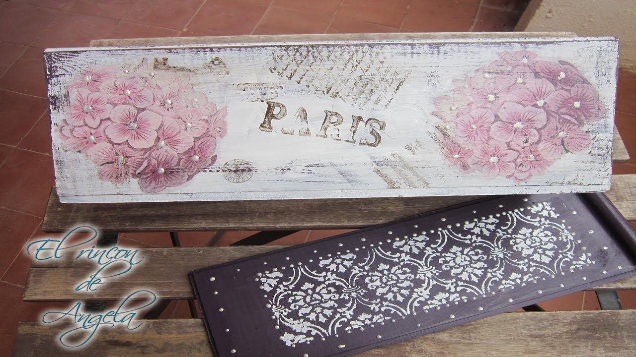 Como reciclar una caja de vino con decoupage y pinturas - Cajas de vino para decorar ...