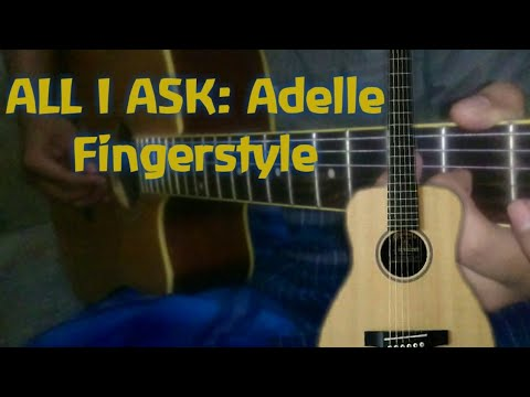 "ADELE "" ALL I ASK "" GUITAR SHORT COVER ( GUITAR LESSON ) INTRO GITAR!!!"