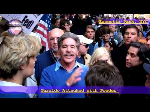 Occupy Wall Street: Geraldo Attacked by powder