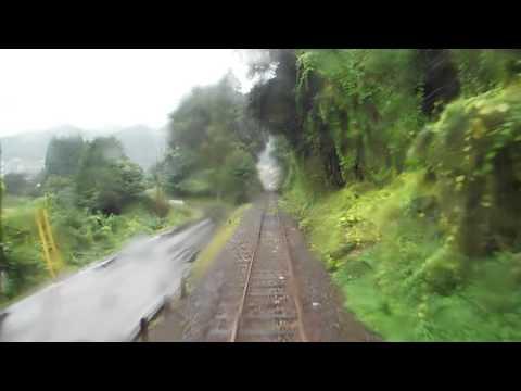 JR West Sankō Line Iwami Kawamoto ~ Gōtsu JR西日本 三江線 石見川本~江津 後面展望