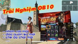 Trải Nghiệm OB10: Nhân vật mới, Mở rộng đảo quân sự, chế độ chơi mới | Garena Free Fire || Lão Gió