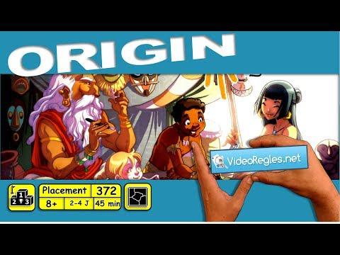 """Vidéorègle jeu de société """" Origin """" par Yahndrev (#372)"""