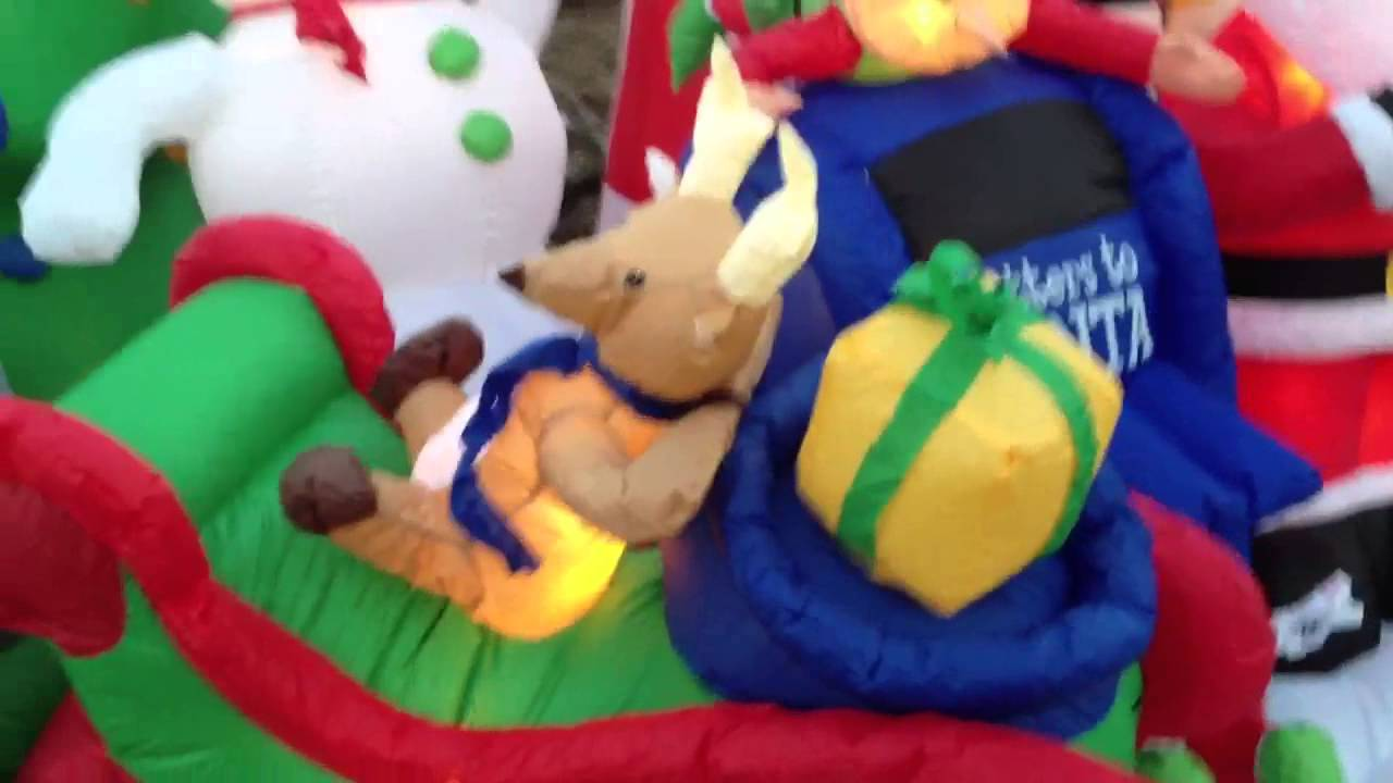 christmas blow up decorations youtube
