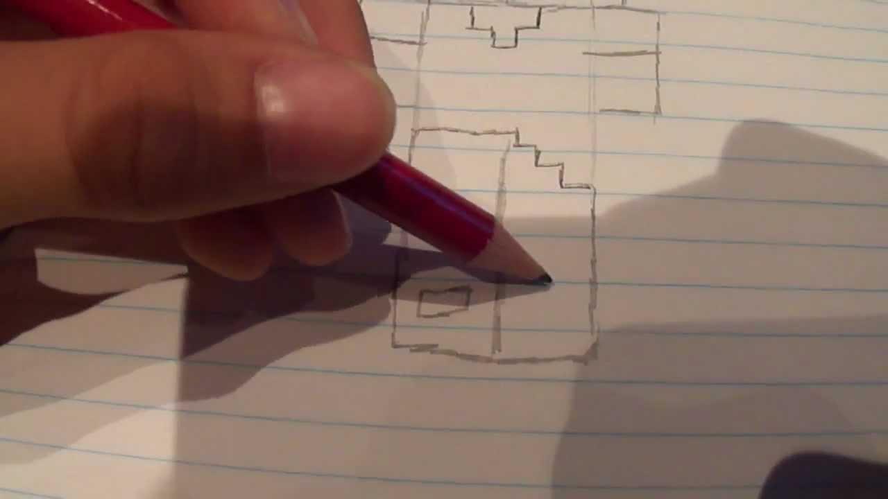 minecraft player tekenen deel 1