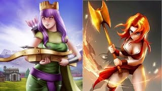Valky & Queen - Deadly Combination - Clash of Clans