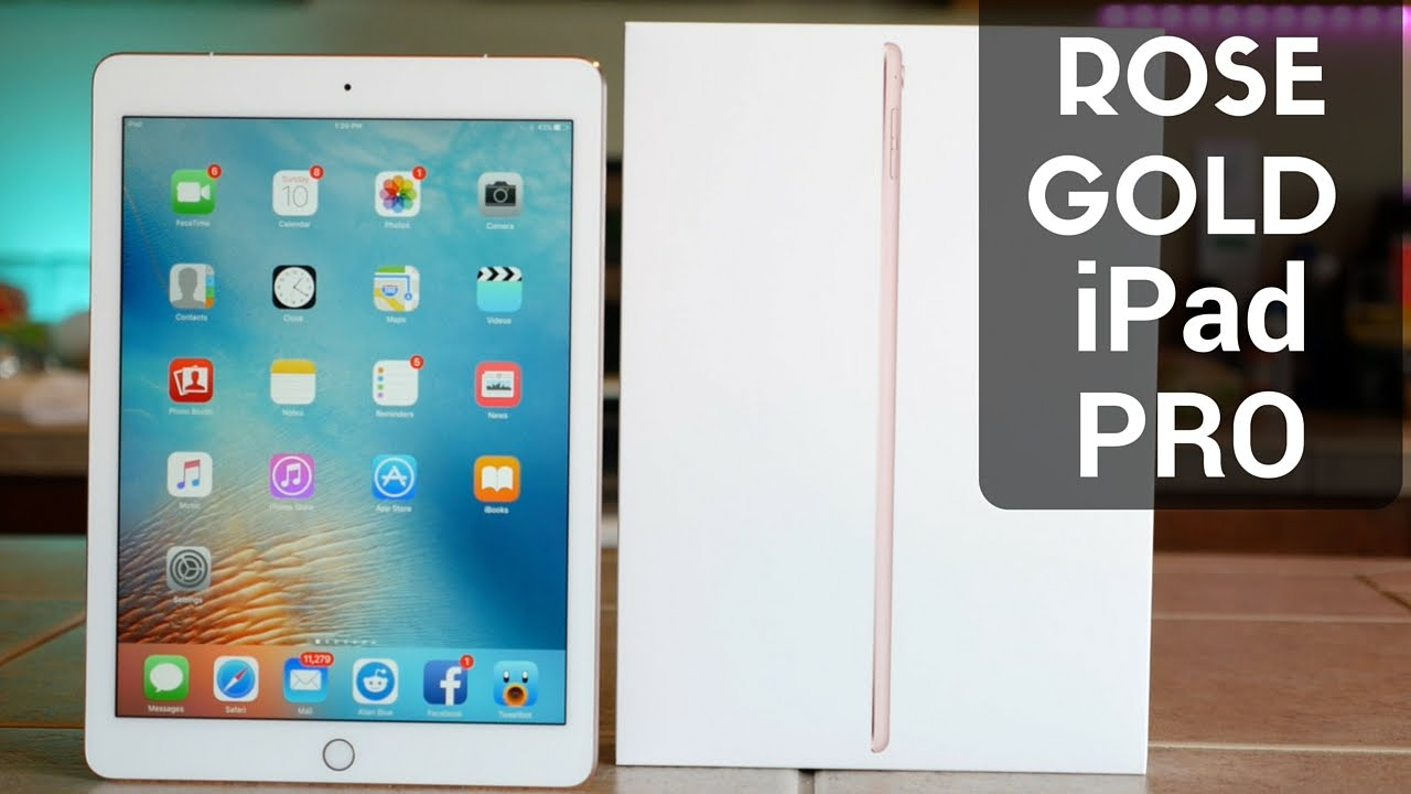 rose gold ipad pro 9 7 inch unboxing and overview youtube. Black Bedroom Furniture Sets. Home Design Ideas
