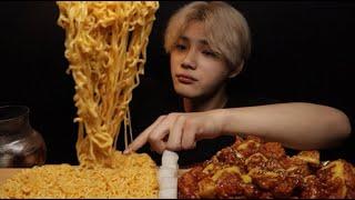 SUB)노랑통닭 순살양념치킨 & 치즈볶이 X나 맛있게 …