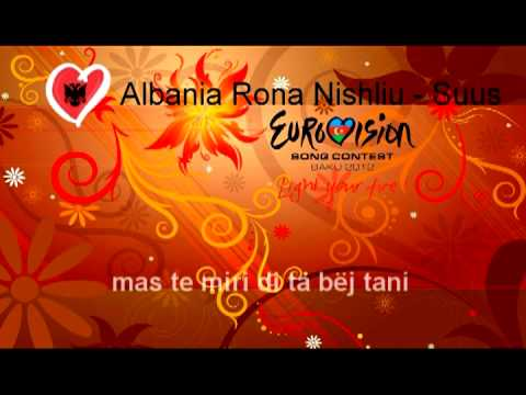 Rona Nishliu - Suus [Song Official + Karaoke Versions and Lyrics] Albania Eusovision Baku 2012.